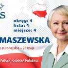 Ewa Tomaszewska - kandydatka do Europarlamentu w Amicusie